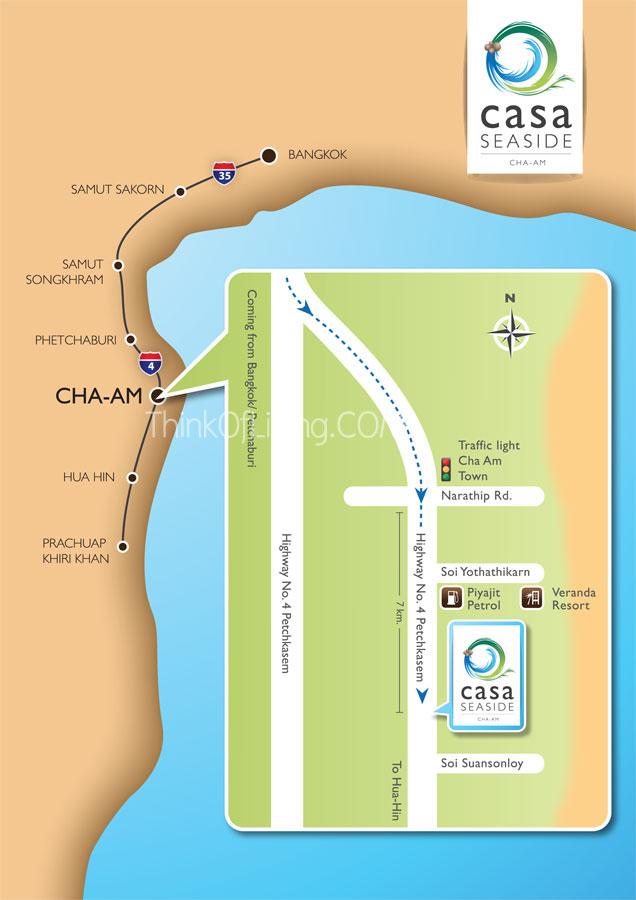 Casa Seaside ชะอำ แผนที่