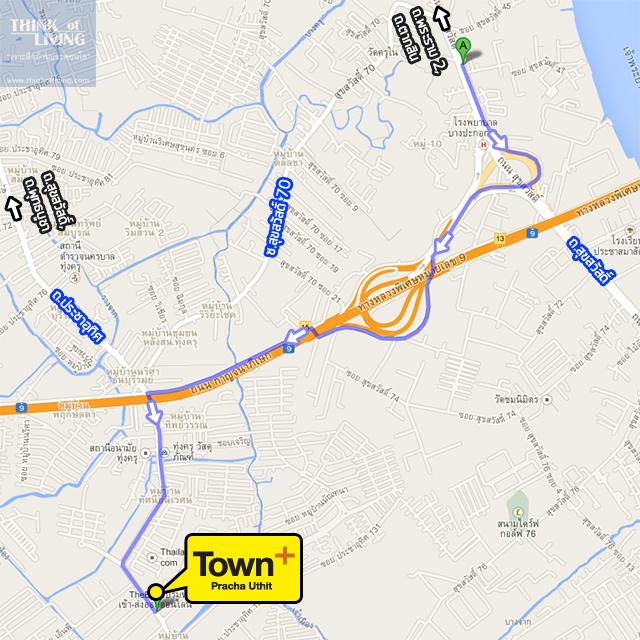 TownPlusประชาอุทิศ_Map_RouteA