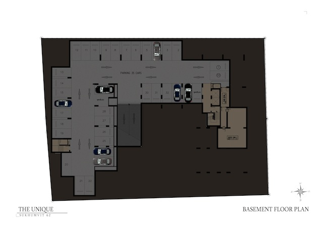 floor plan the unique sukhumvit 62:1 B1