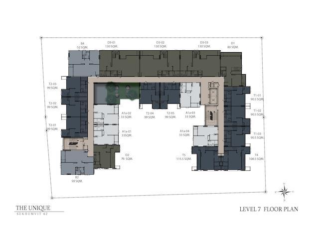 floor plan the unique sukhumvit 62:1 L7