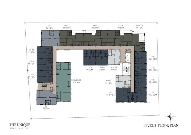 floor plan the unique sukhumvit 62:1 L8