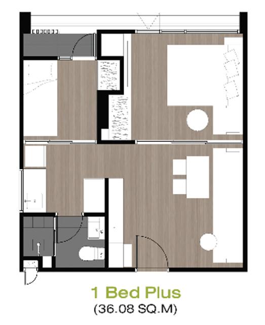 Unit Plan 1 Bedroom Plus