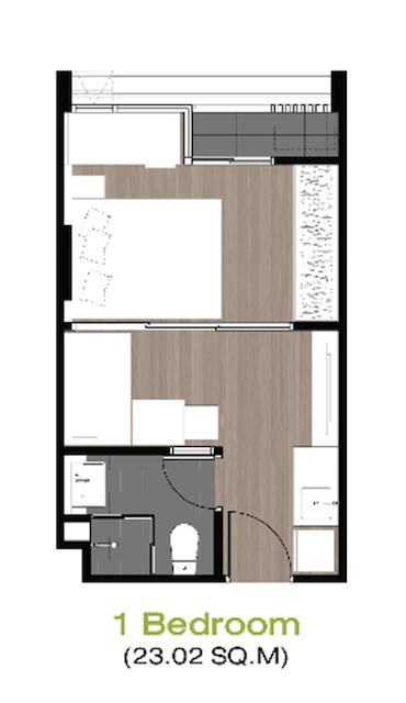 Unit Plan 1 Bedroom