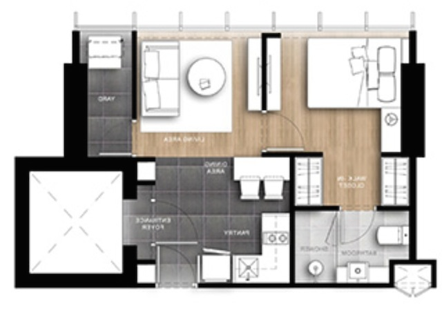Wish signature room layout 1 bed