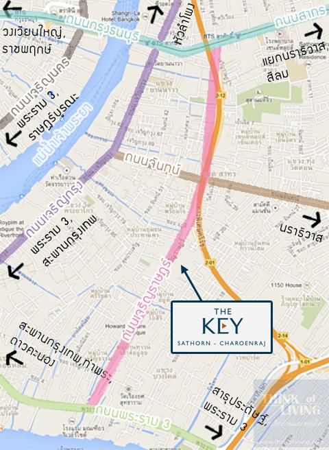 TheKeyสาทรเจิรญราษฎร์_Map_Area