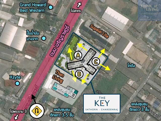 TheKeyสาทรเจิรญราษฎร์_Map_Site
