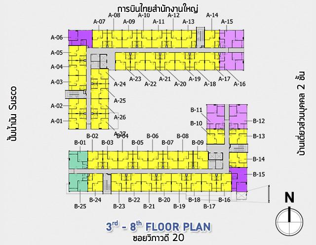 11 condo u third floor plan