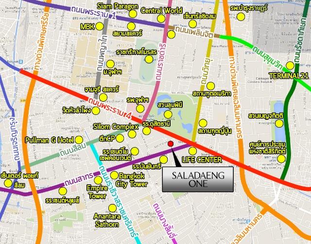 แผนที่แลนด์มาร์ค