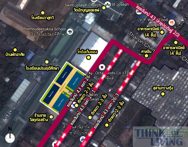 แผนที่ซูม uptown