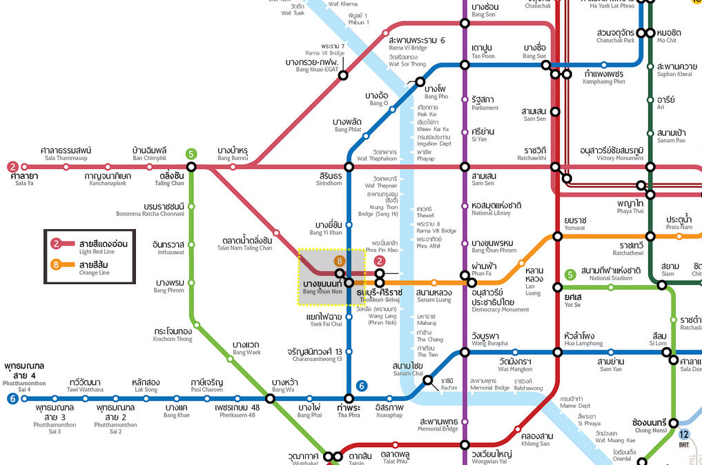 แผนที่รถไฟฟ้า