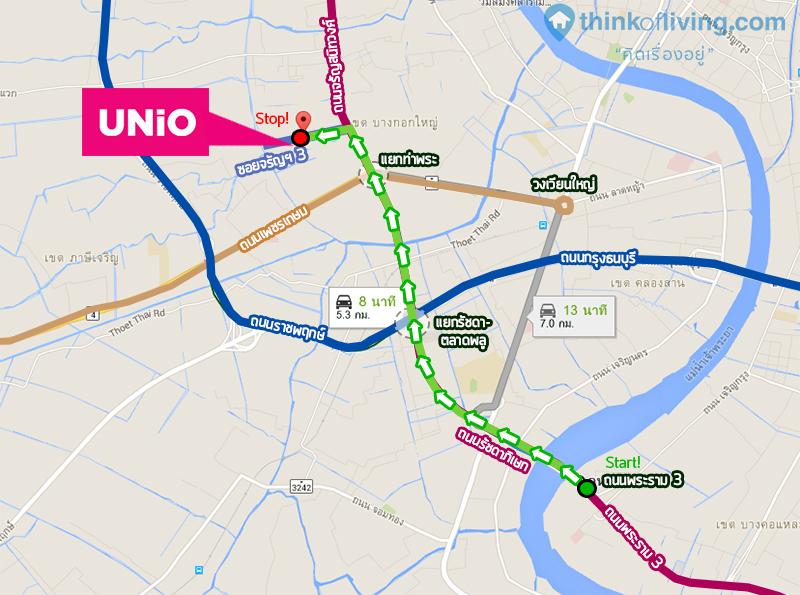 Map เดินทาง Unio