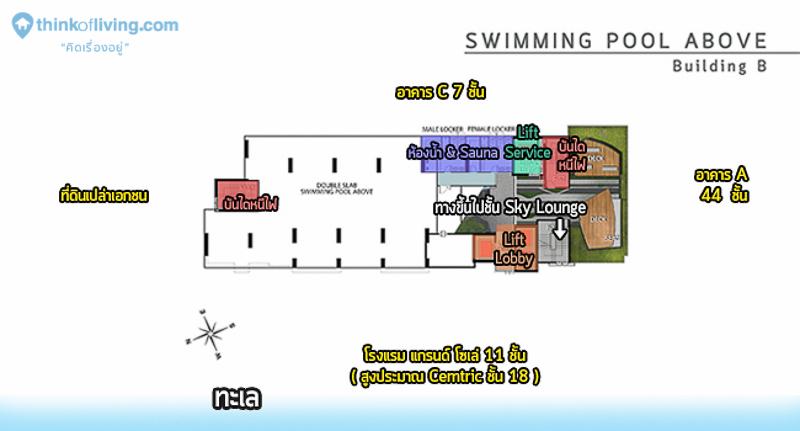 รูปนี้จัดทำขึ้นเพื่อให้เห็นภาพรวมของโครงการแบบคร่าวๆ ไม่สามารถอ้างอิงระยะห่างจากทะเลได้นะคะ