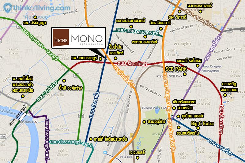 The Niche mono รัชวิภา แผนทีสถานที่
