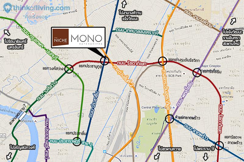 The Niche mono รัชวิภา แผนที่รวม