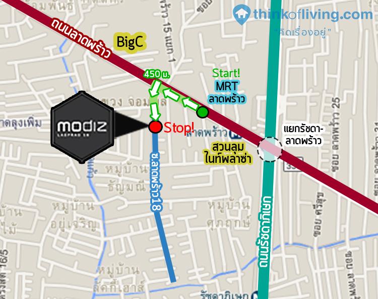 MAP Modiz เดินทาง