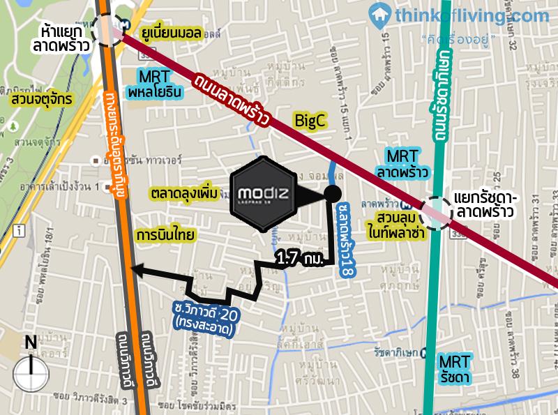 MAP Modiz to วิภาวดี 20