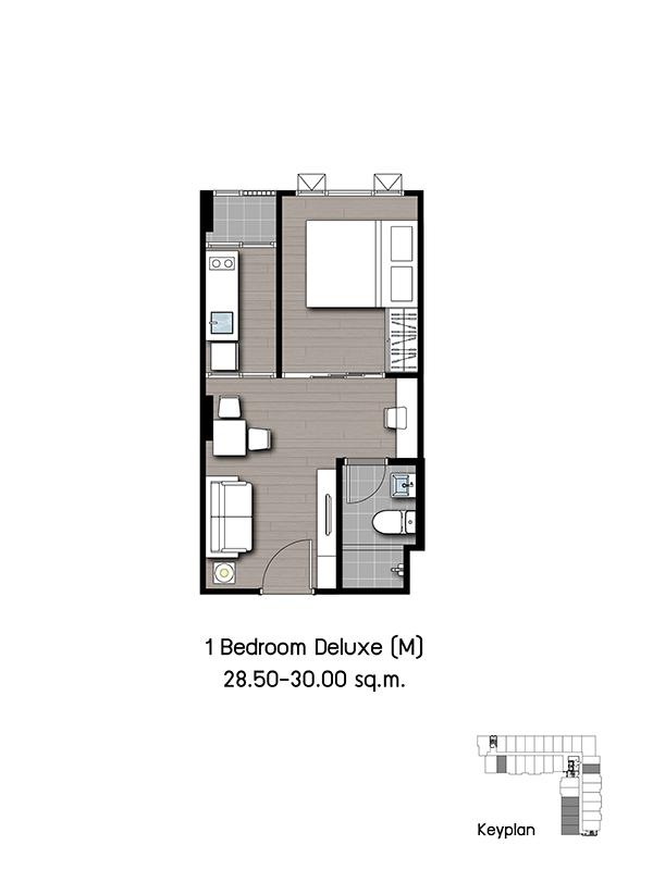 2016-07-27 _ Kensington Phaholyothin63 _ Unit_1 Bedroom Deluxe (M)