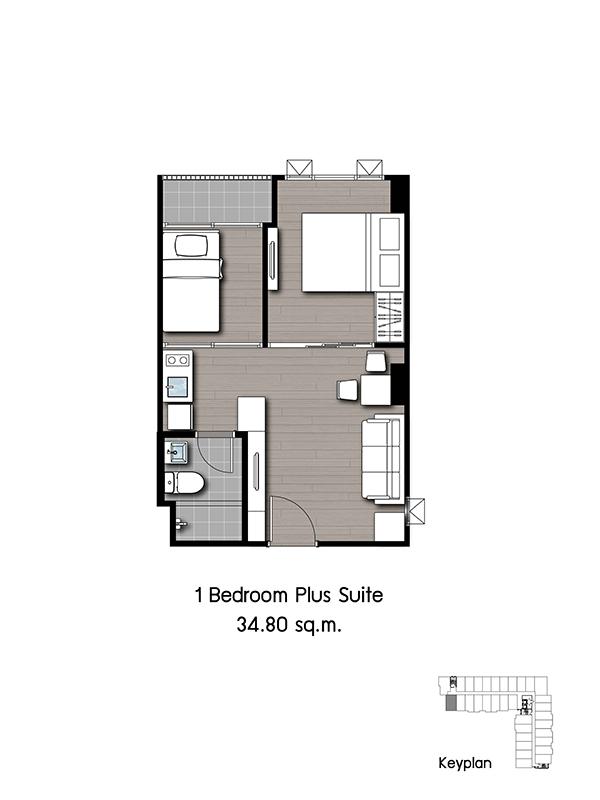 2016-07-27 _ Kensington Phaholyothin63 _ Unit_1 Bedroom Plus Suite